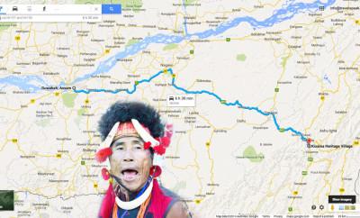 Horbill Festival Driving Route