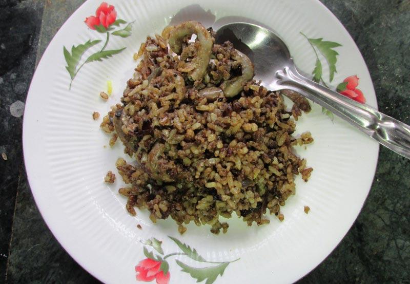 Maasor Petu Bhaat Bhaji