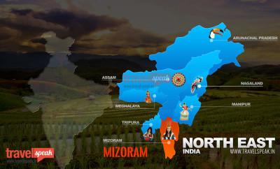 Mizoram Tourist Map ILP