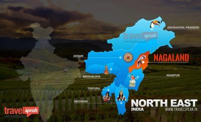 Nagaland Tourism Map
